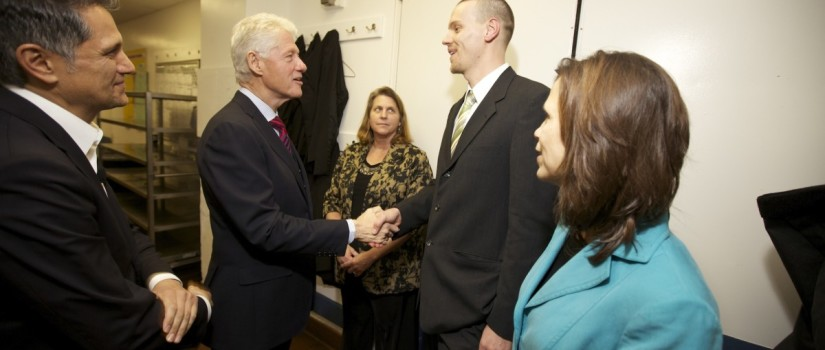 President Bill Clinton thanks Donn Kropp