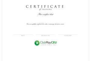 Sample CEU Certificate for ClickPlayCEU
